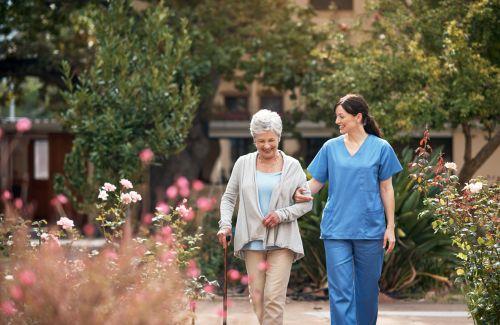 nurse with elderly lady - Asset Protection & Elder Law of Georgia